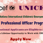 UNICEF Junior Professional Officer Programme For International Applicants to Apply