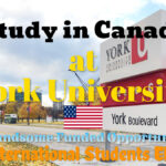 York University Scholarships to Study in Canada, All International Students Can Apply