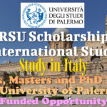 ERSU Scholarships for International Students for Bachelors, Masters and PhD Programs at University of Palermo in Italy