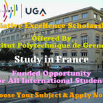 Initiative Excellence Scholarships for International Students at Institut Polytechnique de Grenoble in France