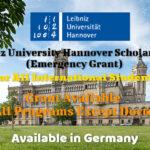 Leibniz University Hannover Scholarships (Emergency Grant) in Germany for International Students