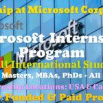 Microsoft Internship Program For International Students of the World│Fully Funded