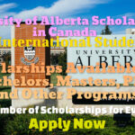 University of Alberta Scholarships in Canada for International Students for Bachelors, Masters, PhD and Other Programs – Large Number of Scholarships Available
