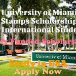 University of Miami Stamps Scholarship for International Students, Study in USA