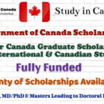 Government of Canada Scholarships – Vanier Canada Graduate Scholarship for International Students│Fully Funded