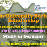 Ruhr University Bochum Scholarship (Corona Special Grant for International Students) in Germany