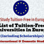List of Tuition Free Universities in Europe for International and Domestic Students