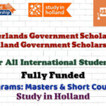 Netherlands Government Scholarship for International Students (Fully Funded)