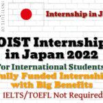 OIST Internship in Japan 2022 (Fully Funded) for International Students