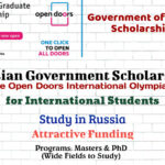 Russian Government Scholarships (The Open Doors International Olympiad) for International Students to Study in Russia