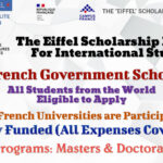 Eiffel French Government Scholarship for International Students, A Fully Funded Opportunity