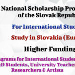 National Scholarship Programme of the Slovak Republic for International Students – Study in Slovakia